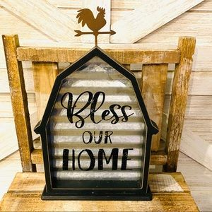 Bless Our Home Barn Farm Sign
